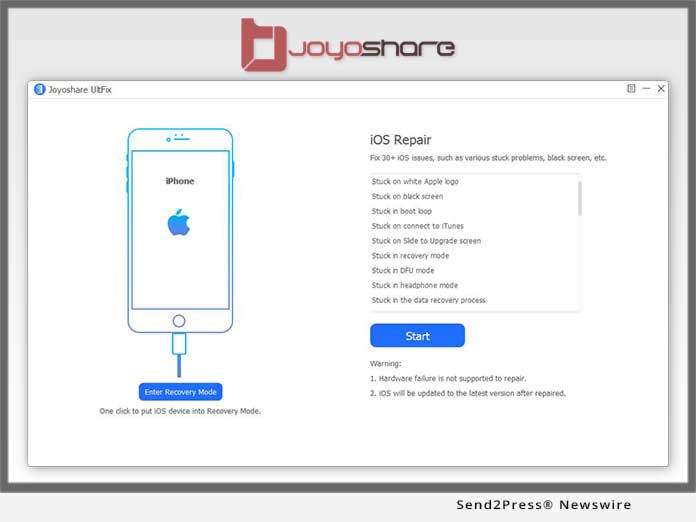 Joyoshare Software Launches UltFix iOS System Recovery to